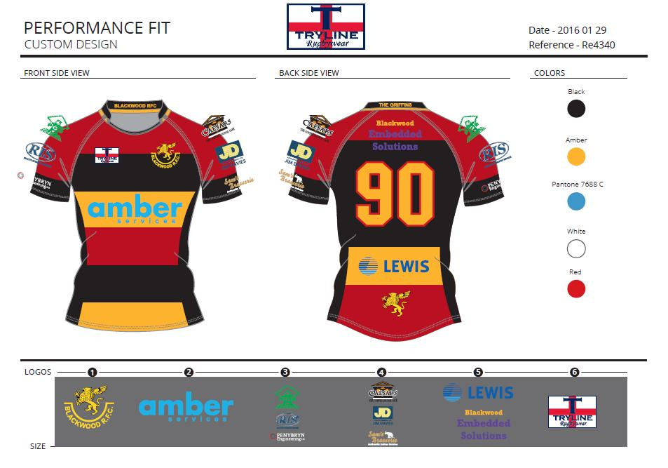 Blackwood RFC TryTech Fabric Performance Fit
