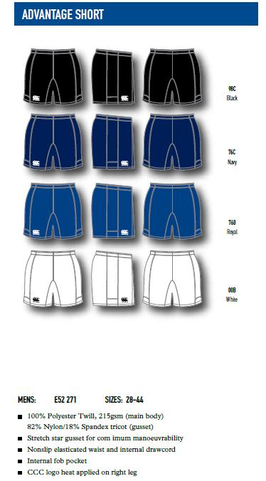 Canterbury Advantage Shorts
