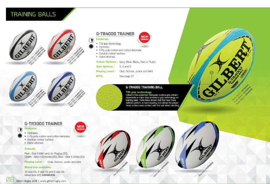 Gilbert Training balls