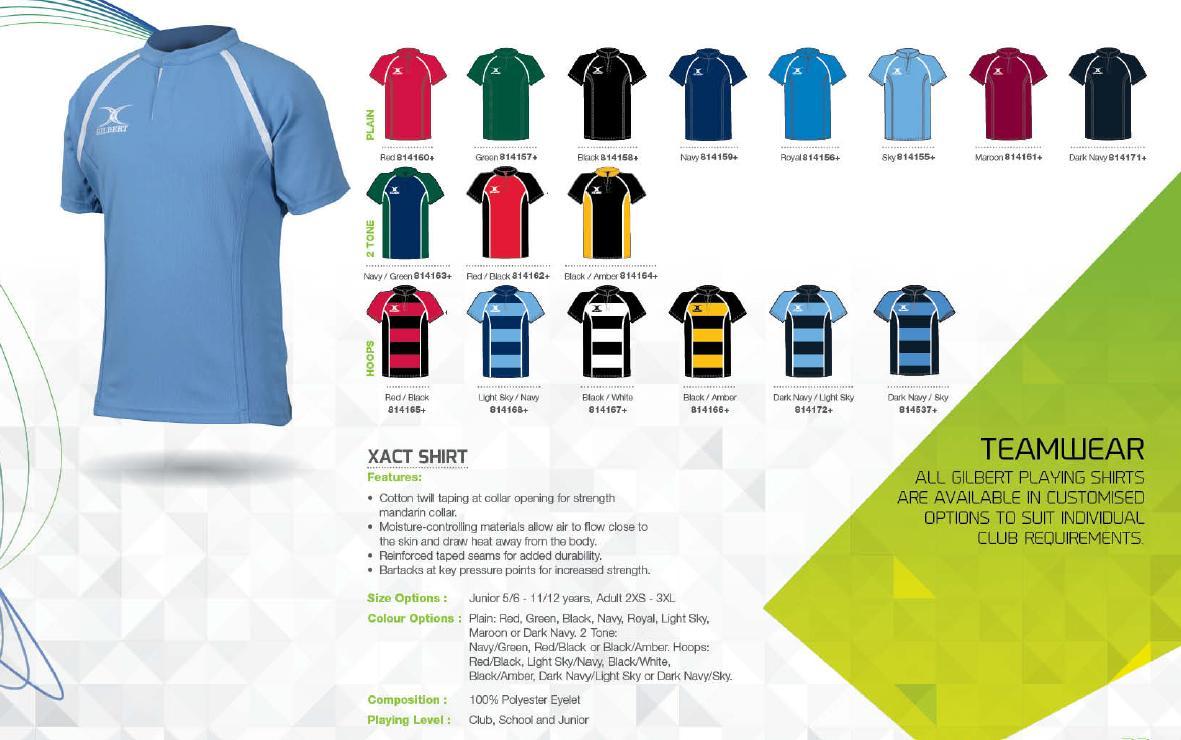 Design shirt kooga - Gilbert Xact Shirt