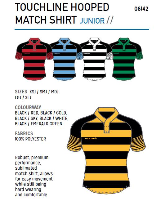 Kooga Junior Hooped Match Shirt