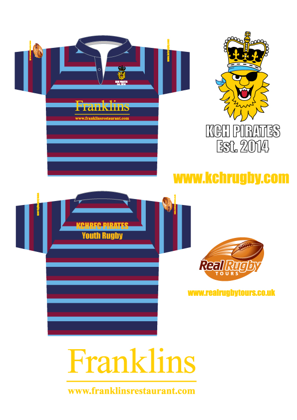 KCH RFC Pirates Micro Shirts