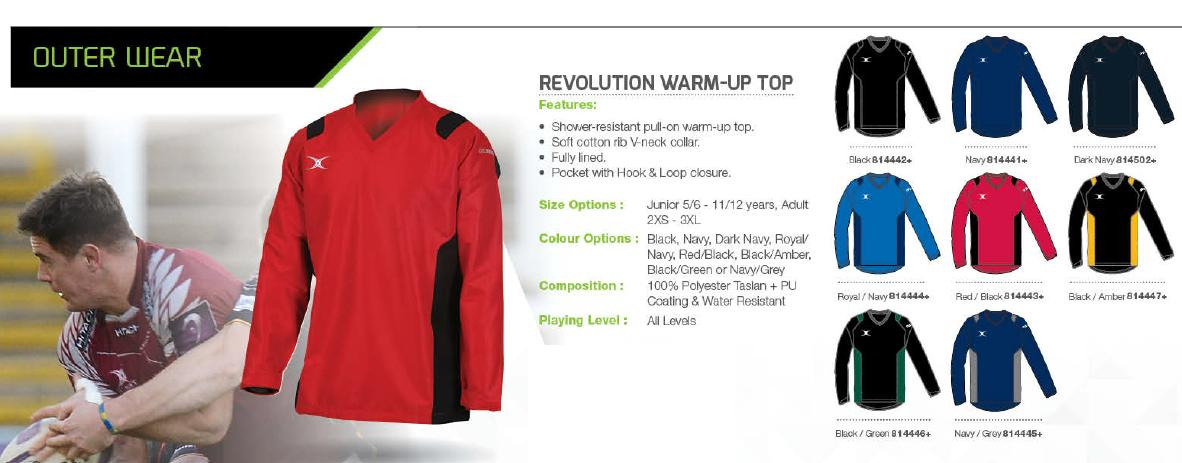Gilbert Revolutiom Warm Up Top