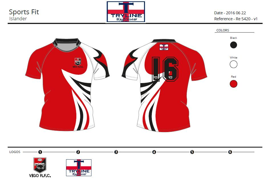 Vigo RFC 10's Kit TryTech Fabric Sports Fit