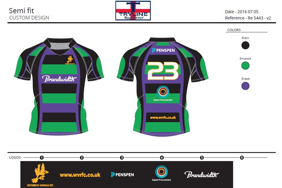 Weybridge Vandals RFC Semi Fitted